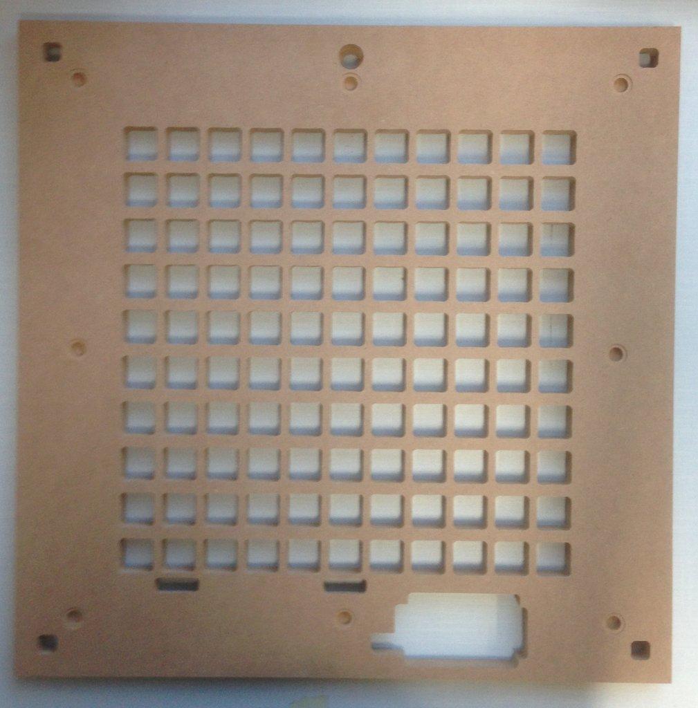 Rahmen für 50er LED-Leuchtbild - Classic (z.B. Wortuhr in bauweise ...