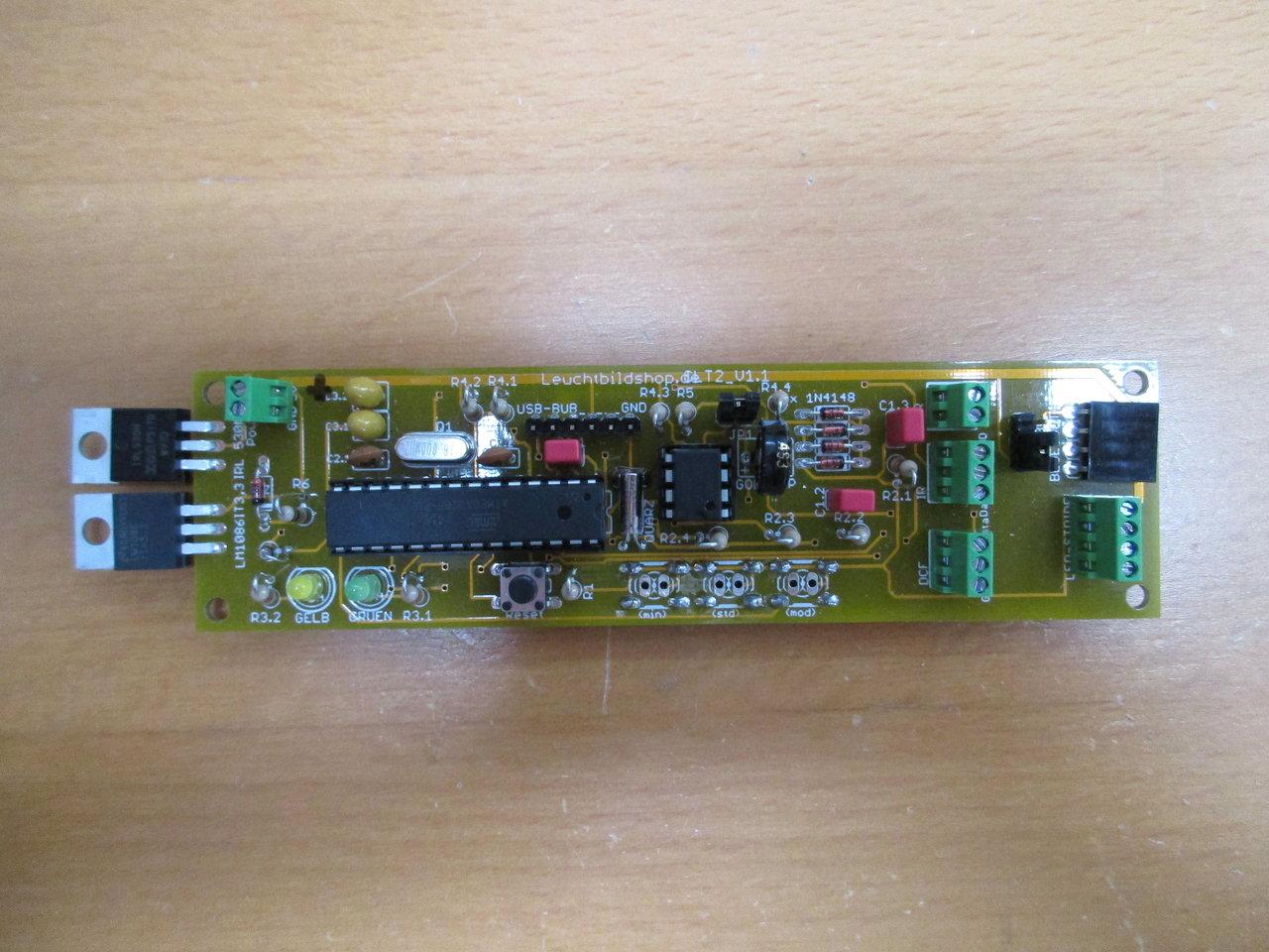 Bausatz Platine CLT2 komplett mit Atmega 328P-PU - Leuchtbildshop.de